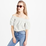 J.Crew Cotton off-the-shoulder top