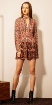 EDM Private Collection Keyhole Long Sleeve Printed Romper