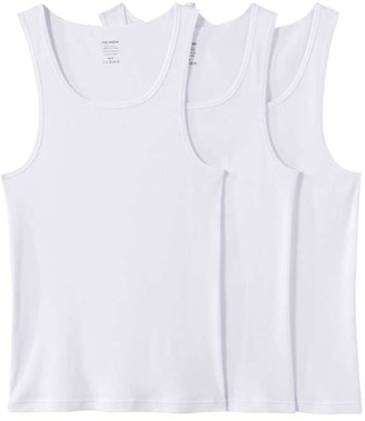 Joe Fresh Mens 3 Pack Undershirts, White (Size M)