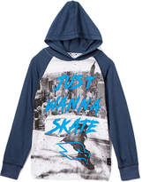 Blue 'Just Wanna Skate' Raglan Hoodie - Boys
