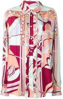 Emilio Pucci Mirei ruffle front silk shirt