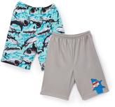 Komar Kids Sharks Two-Pair Sleep Shorts - Set of Two