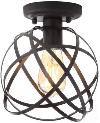 "Jonathan Y Designs Alba 8.5"" Oil Rubbed Bronze Metal LED Flush Mount"