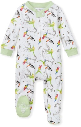 Burt's Bees Flying Tropics Organic Baby Zip Front Loose Fit Footed Pajamas