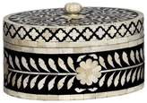 "Mela Artisans Natural Bone & Wood Round Box ""Imperial Beauty"""