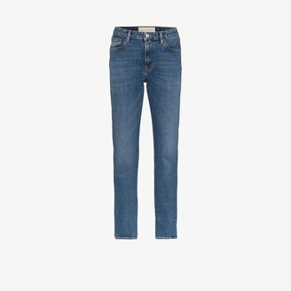 Jeanerica High-Rise Straight-Leg Jeans