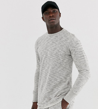Le Breve Tall ribbed arm crew neck sweatshirt