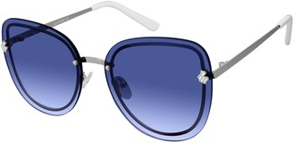Rocawear Women's R677 SLV Cateye Sunglasses Silver 63 mm