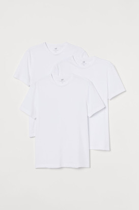 H&M 3-pack Slim Fit T-shirts - White