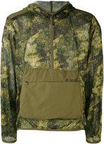 Snow Peak - Camouflage hooded windbreaker - men - Polyester - M/L