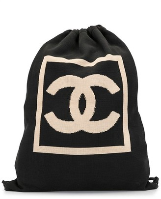 Chanel Pre Owned Sport Line CC drawstring backpack