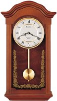 Bulova Baronet - Chiming Pendulum Wall Clock - Solid Wood Case - Mahogany Finish
