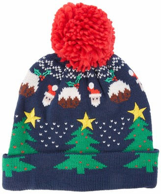 Yumi Women's Christmas Beanie Hat with PO