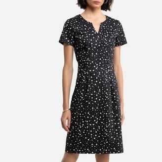 Anne Weyburn Cotton Polka Dot Dress