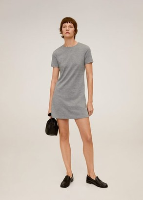 MANGO Printed short dress grey - 4 - Women
