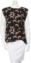Halston Printed Silk Top