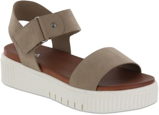 Mia Sneaker Bottom Ankle Strap Sandals - Josee