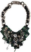 Prada Crystal & Kitchen Utensil Bib Necklace