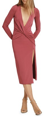 Cushnie Plunging Neckline Long Sleeves Dress
