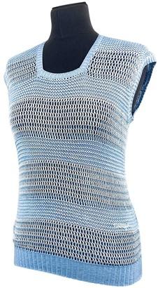 Courreges Blue Cotton Top for Women Vintage