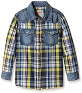 Levi's Boy's LS SHIRT TODD Checkered T-Shirt - yellow -