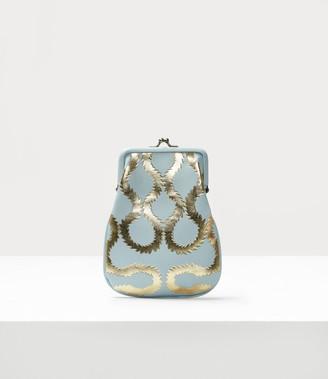 Vivienne Westwood Squiggle Worlds End Mini Yasmine Chain Purse Light Blue