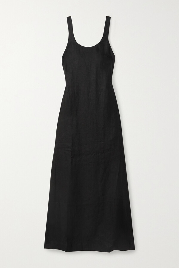 BONDI BORN + Net Sustain The Kennedy Open-back Linen-twill Maxi Dress