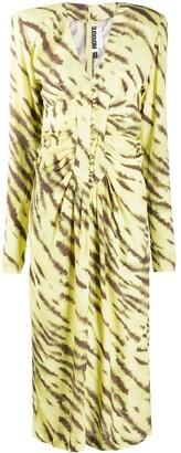 Rotate by Birger Christensen Tiger-Print Dress