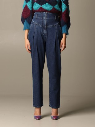 Alberta Ferretti High-waisted Carrot Jeans
