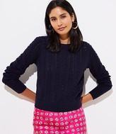LOFT Petite Bobble Cropped Sweater