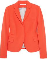 Diane von Furstenberg Yahlie cropped stretch-crepe blazer