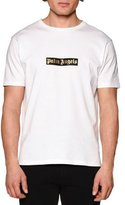 Palm Angels Short-Sleeve Logo T-Shirt, White