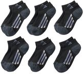 adidas Boys 6-Pack ClimaLite Low-Cut Socks