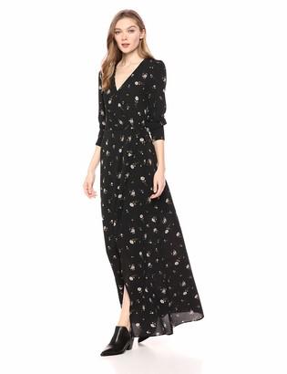 Ali & Jay Women's Sleeve Wrap Maxi Long Dress