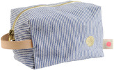 LA CERISE SUR LE GÃ,TEAU Brushed Cotton Stripe Toiletry Bag