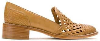 Sarah Chofakian Hanoi leather slippers