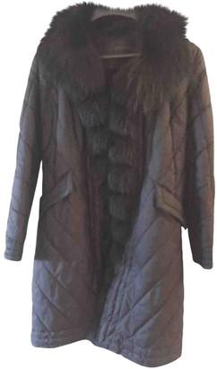 Ermanno Scervino Black Fox Coat for Women