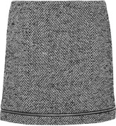 Rebecca Minkoff Nell herringbone wool-blend mini skirt