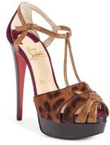 Christian Louboutin Women's Glennalta Genuine Calf Hair Platform Sandal