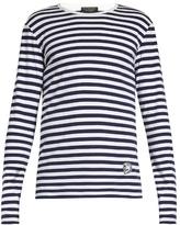 Burberry Helmet-appliqué striped T-shirt
