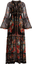 Roberto Cavalli Ancient Garden-print chiffon dress