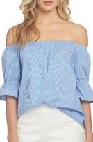 1 STATE Women's 1.state Smocked Sleeve Off The Shoulder Top