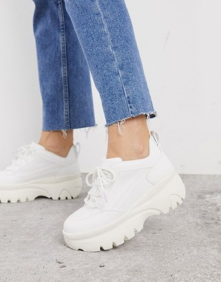 New Look chunky sneakers in white