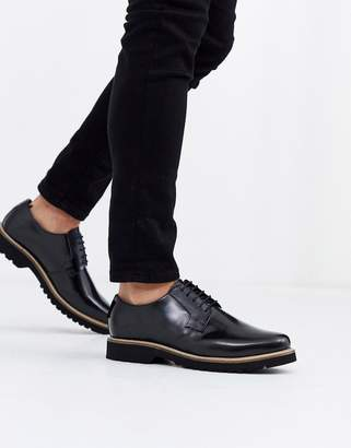 Ben Sherman chunky sole lace up shoe in black
