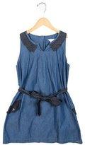 Little Marc Jacobs Girls' Sleeveless Chambray Dress