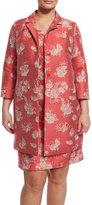 Marina Rinaldi Natascia Flower-Print Coat, Plus Size