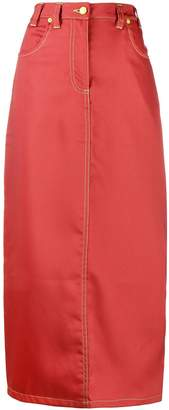 Eckhaus Latta back slit long skirt
