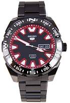 Seiko 5 Sports srp749 K1 – Analog – Watch Men – Automatic – black dial – Stainless steel black plated bracelet