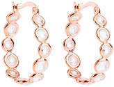 Gaia Rose Gold-Plated Cubic Zirconia Hoop Earrings
