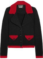 Moschino Two-tone Wool-blend Bouclé Jacket - Black